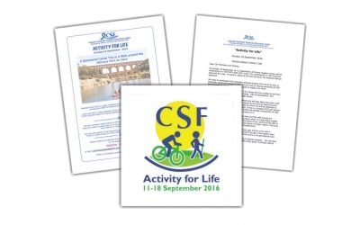 Activity for life, Sept. 18